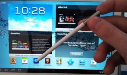 Galaxy Note 10.1 Video Surfaces, Shows TouchWiz UX and Stylus