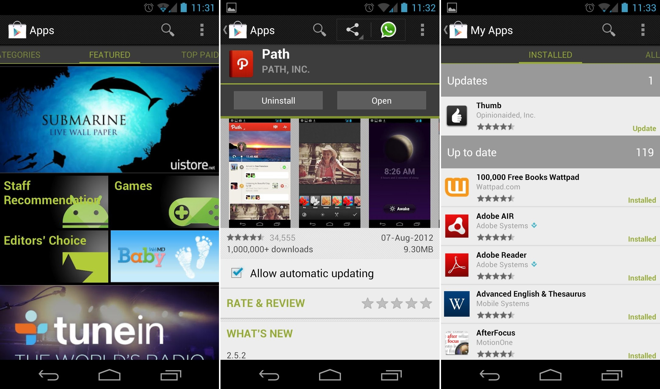 Google Play Store 3.8.15