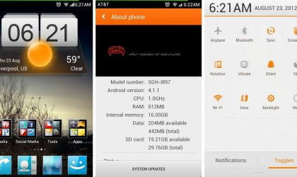 MIUI ROM Running Android 4.1 for Samsung Captivate [Jelly Bean]