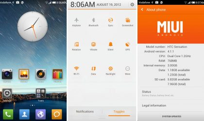 Jelly Bean MIUI for HTC Sensation [Android 4.1]