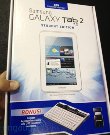 Student Edition Galaxy Tab 2 7.0 To Come Soon
