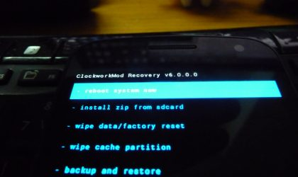 New Clockworkmod Recovery (CWM) Version 6.0 for HTC One V