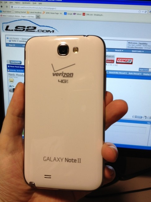 Verizon Wireless Galaxy Note 2
