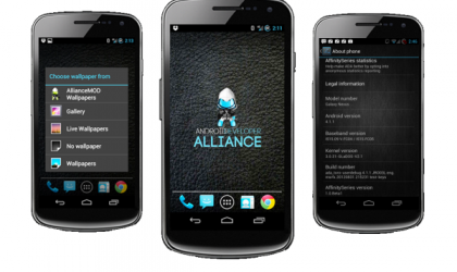 Android 4.1 Jelly Bean Based Affinity ROM for International Galaxy Nexus i9250
