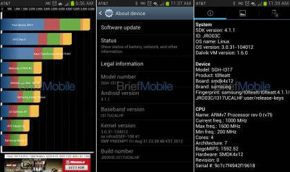 Screenshots from Galaxy Note 2 for AT&T Leaked. One for Sprint, T-Mobile and Bell coming soon.