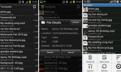 Want Recycle Bin on Android? Install the Dumpster Android App — allows you to undelete files, too!