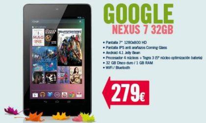 32 GB Nexus 7 price is much higher in Spain, it seems