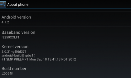 Galaxy Nexus Android 4.1.2 OTA update rolling out now for 'takju' models