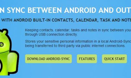 Sync Android phone with Microsoft Outlook with Android Sync software