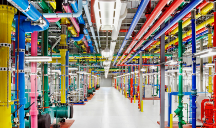 Traverse through Google's data centers using Street View
