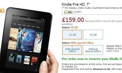 UK Kindle Fire HD Price revealed, you gotta pay £10 to get it ad-free