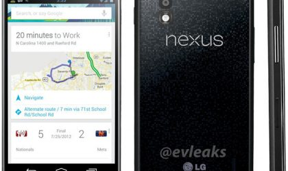 LG Nexus 4 official Image leaked!