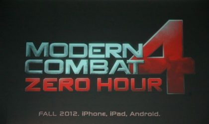 Modern Combat 4 release date is not far, Gameloft says it's around the corner
