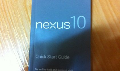 More Google Nexus 10 Specs confirmed via a leaked manual