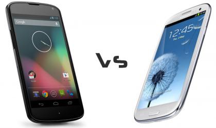 Nexus 4 vs Galaxy S3 Comparison