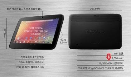 Nexus 10 64 GB model in plans at Samsung!