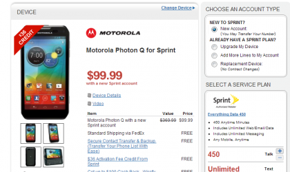 Motorola Photon Q priced just $99 at Wirefly for new customers with free activation