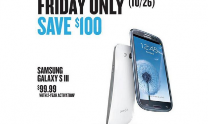 Samsung Galaxy S3 Price at Best Buy just $100 this Friday, Oct 26
