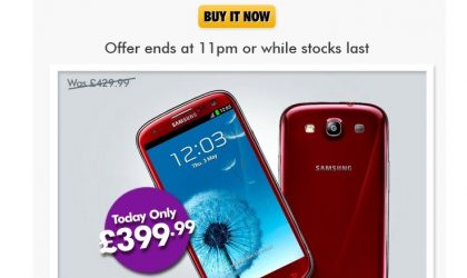 Samsung Galaxy S3 Price dropped to £400 in UK for today