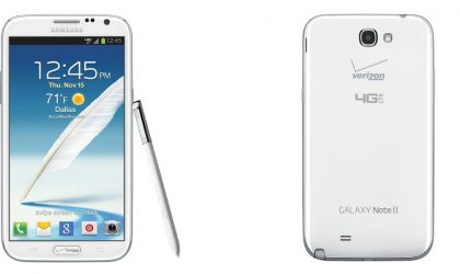 Official Pics of Verizon Galaxy Note 2 confirm the ugly fact that there is a Verizon logo on home button