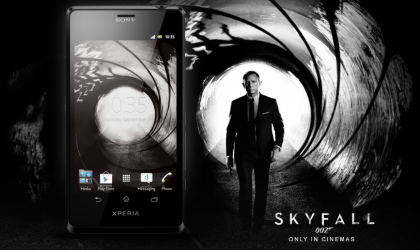 Xperia T Skyfall theme now available