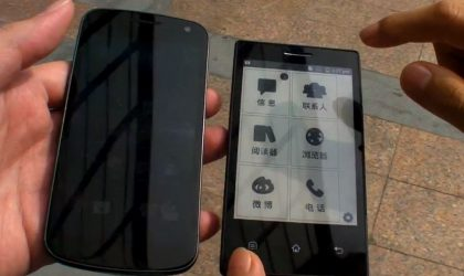 Onyx Android Phone with E Ink display promises 1 week of battery life and is completely visible in daylight