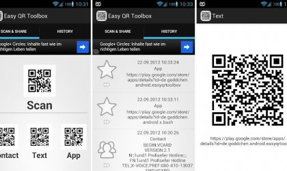 Create QR Codes easily with Easy QR Toolbox Android App