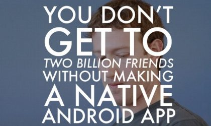 Android getting the Facebook App it deserves shortly, already under final testing
