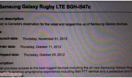 Samsung Galaxy Rugby LTE gets Release Date for Canada, coming soon at Bell and Telus
