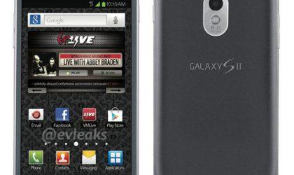 Virgin Mobile Galaxy S2 4G in Steel Gray color leaks