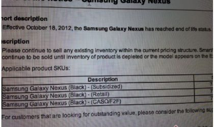 Bell Galaxy Nexus to be discontinued soon, becomes first GNex to get the treatment