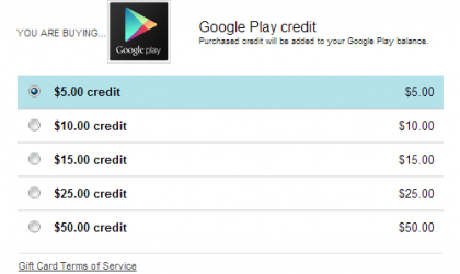 Play Store Credits can be bought from web in US. Though, you can't gift credits for now