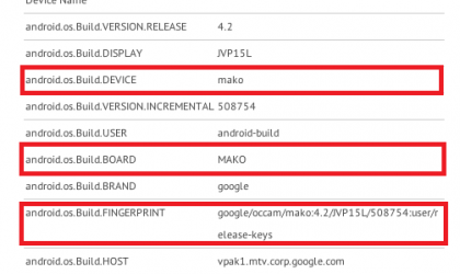 LG Nexus 4 benchmarks appear, confirms it's the Occam and it's the Mako