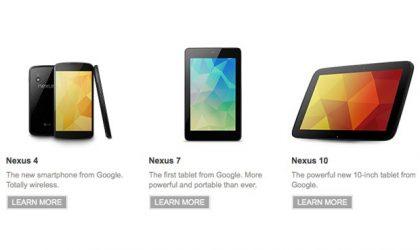 Where to buy the Nexus 7, Nexus 4 or the Nexus 10?