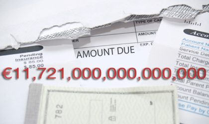 What you think could be the maximum phone bill? It's $15 quadrillion for one woman!