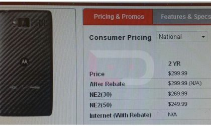 Motorola Droid RAZR Maxx HD Price might be $299 on 2-year contract
