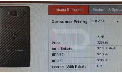 Motorola Droid RAZR Maxx HD Price might be $299 on 2-year contract