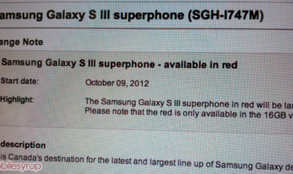 Bell to get Garnet Red Samsung Galaxy S3 in Canada