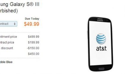 Refurbished AT&T Galaxy S3 available today only for $50