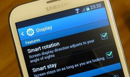 New feature in Galaxy Note 2: Smart Rotation