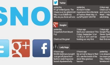 An Android app to get your Facebook, Twitter and Google+ updates at one place – Social Network Overview