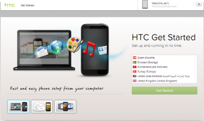 HTC provides a guide to set up your new HTC Android Phone with help of PC