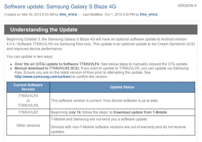 Samsung galaxy s 4g smartphone user manual for t-mobile (sgh-t959v.