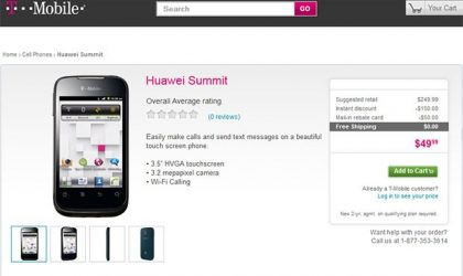 Huawei Summit available at T-Mobile for Price of $49. Appears to run on Android, but Tmo calls it proprietary!