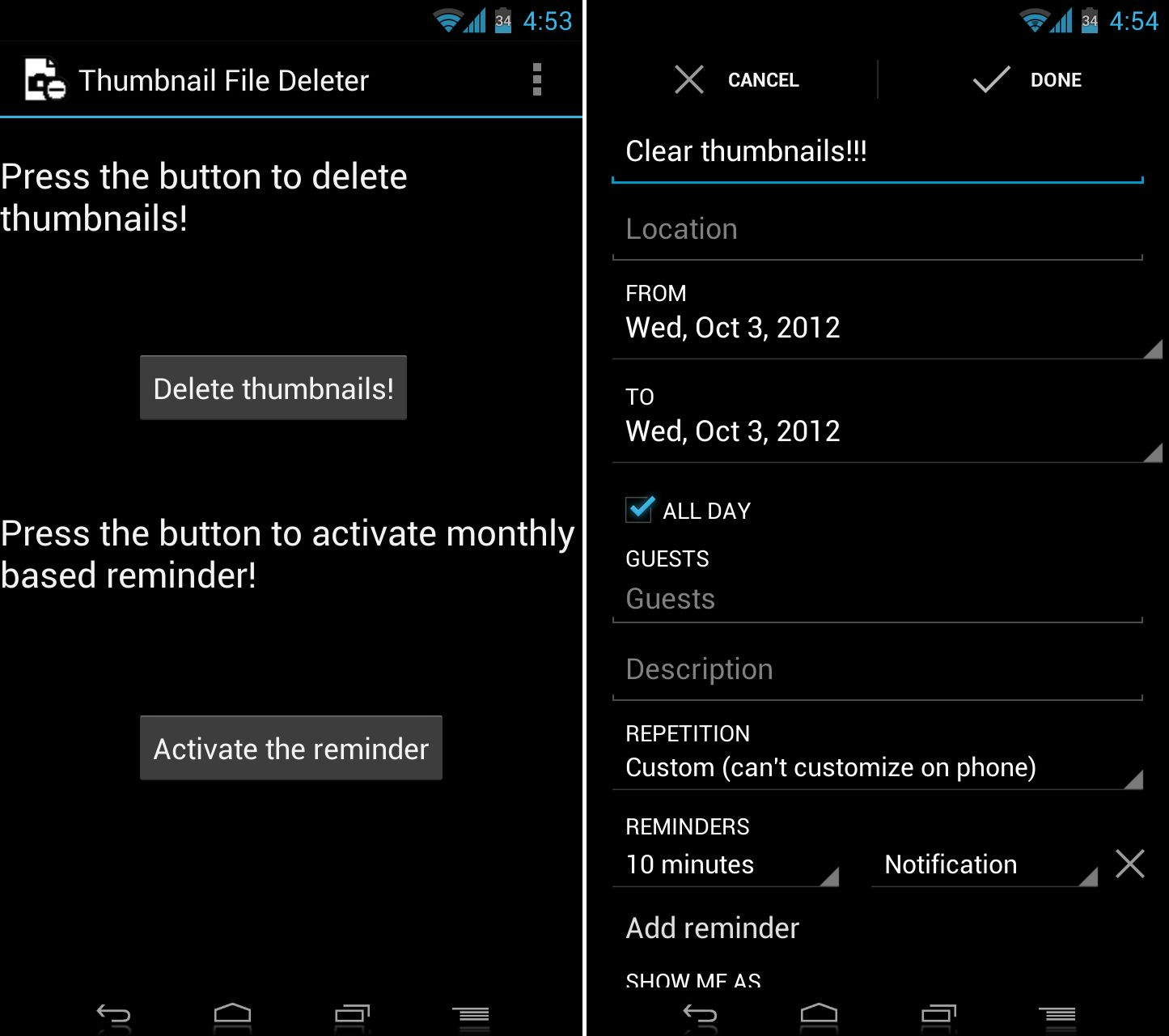 how to delete word files on android