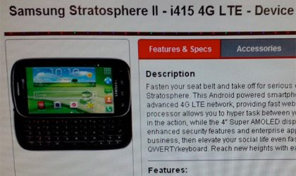 Samsung Stratosphere 2 release date is near, clears GCF as SCH-i415