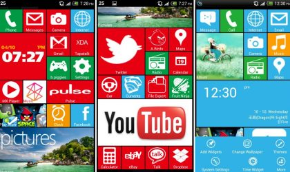 WP8 Launcher for Android available in Chinese, along with English port