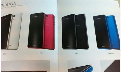 Xperia AX colors found in its catalogue, will arive in Turquoise, White, Black and Pink