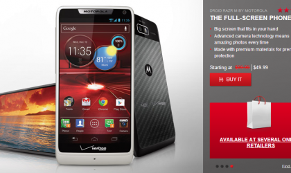 Motorola Droid RAZR M price reduced to $49 only