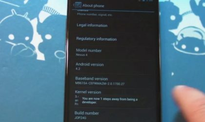 Android 4.2 Developer mode is a tricky thing, here's how it's done